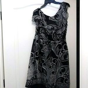 New York & Company One Shoulder Dress
